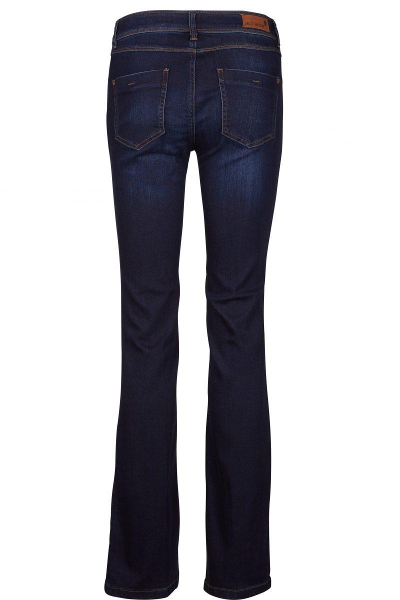 Mellomblå flare jeans Mos Mosh - 111475 athena flare blue denim