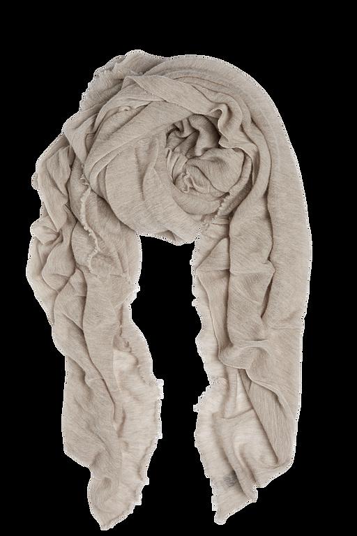 Light beige Luxury Natura Cashmere - luxury Fantastisk skjerf i 100% cashmere med rå kant. Str.160x160cm Made in Italy