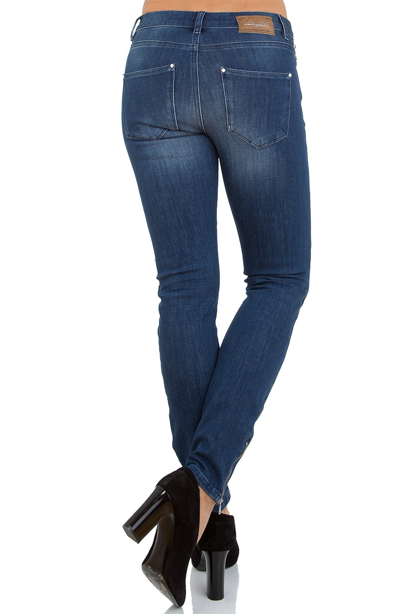 7/8 jeans med glidelås ved lomme og nederst Mos Mosh – 117870 victoria freedom – blue denim