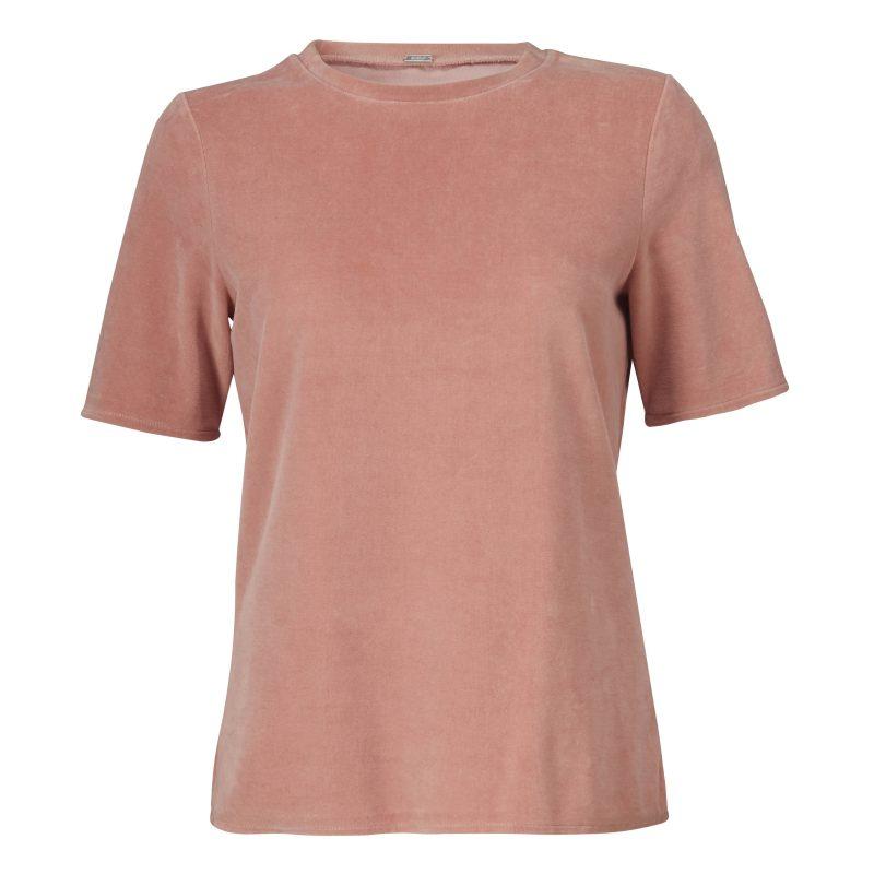 Korallrosa eller blå velour t-shirt Gustav - 24704 1485
