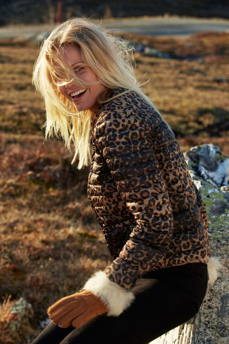 Leopard boblejakke Katrin Uri - 513 lower down jacket