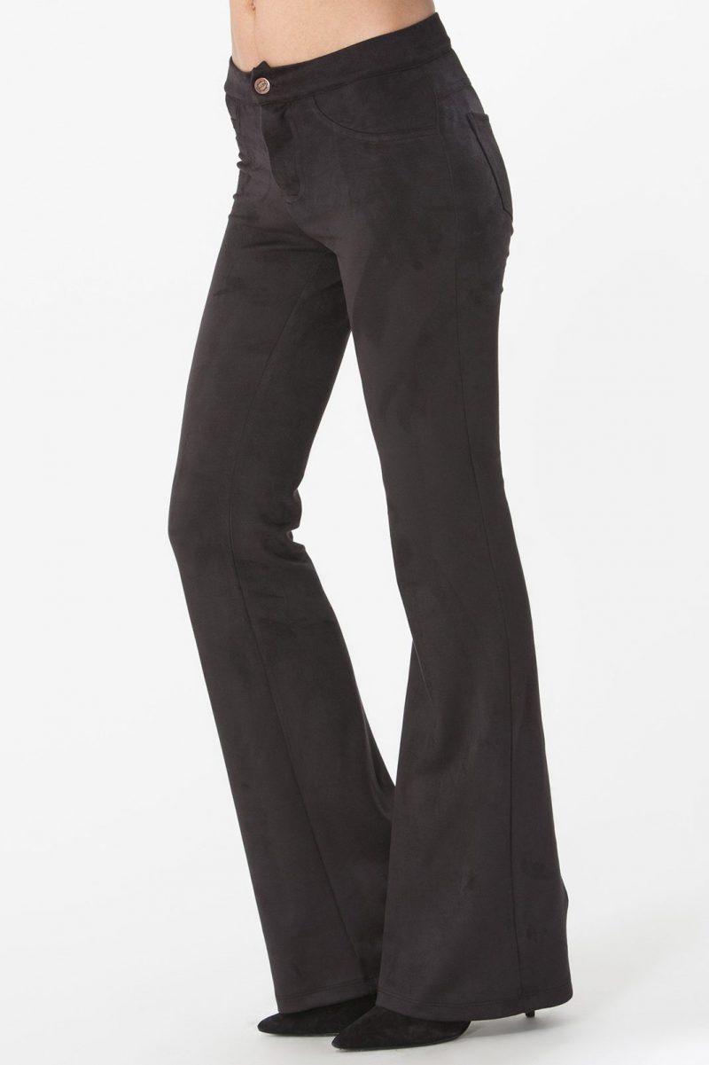 Sort 'semsket' flare bukse Hale Bob - 76af8457