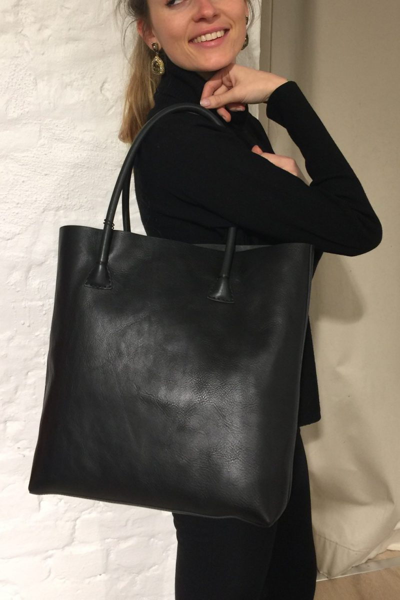 Sort skinn shopper Decadent Copenhagen - 369 elsa tote