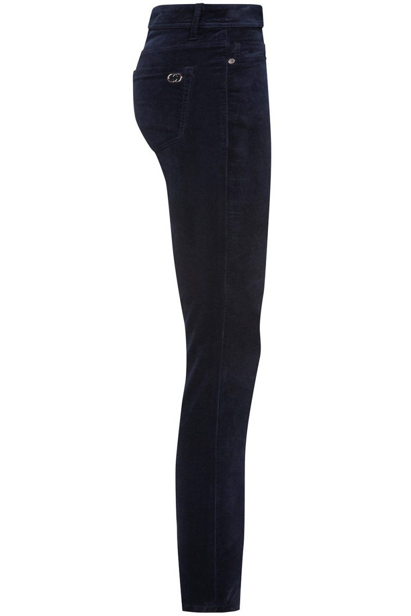 Midnight blue velour 'Parla' bukse Cambio - 7503 0041/40 parla