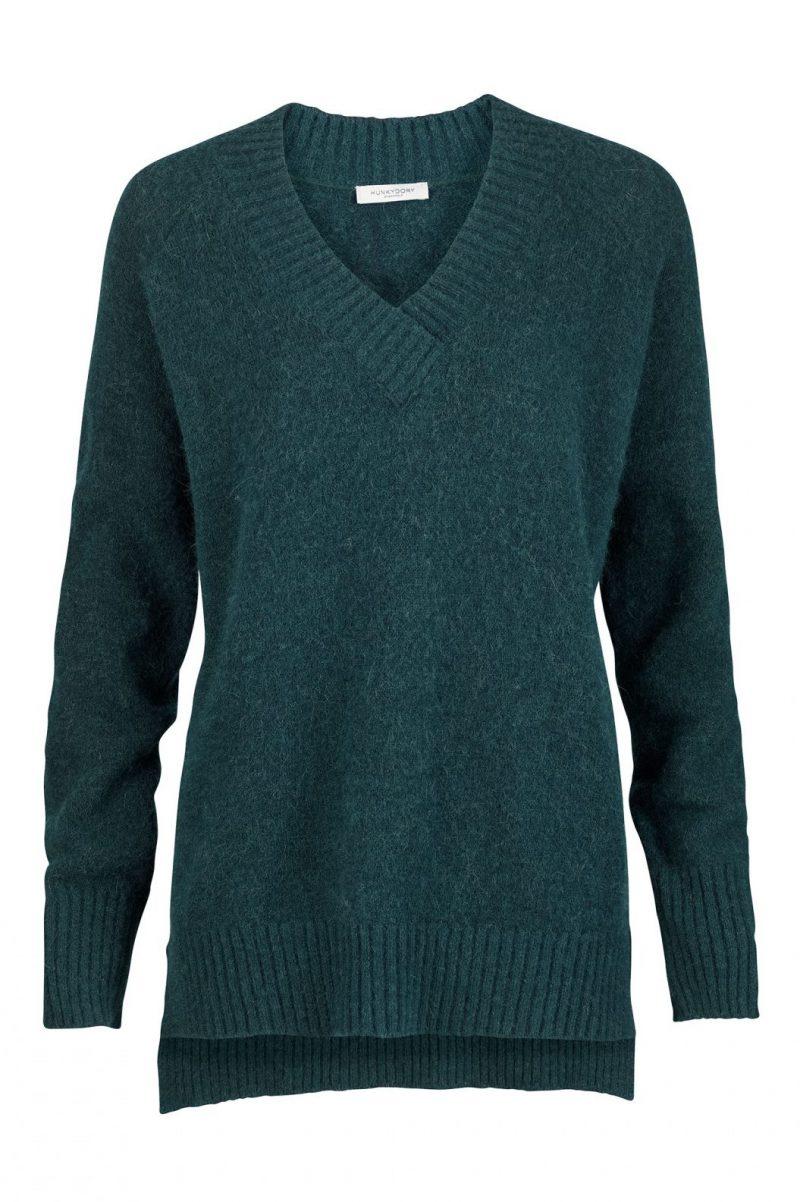 Grønn eller beige v-genser Hunkydory - 11 757