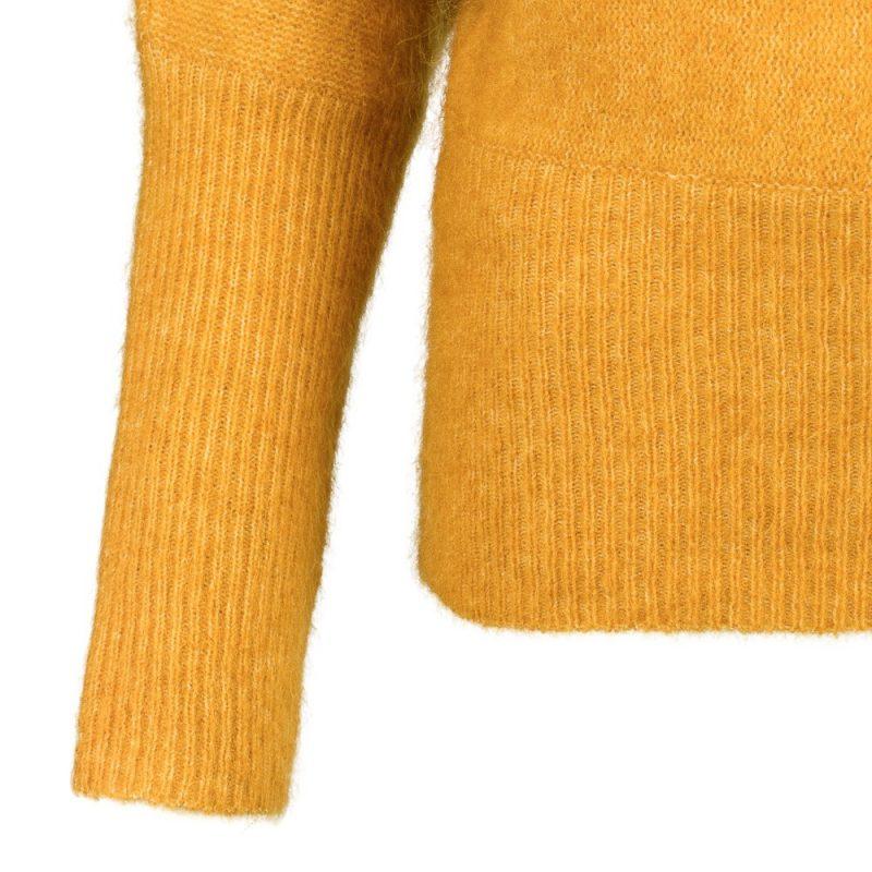 Okergul eller sort genser i mohairmix Cathrine Hammel - 153.217 soft rounded swether