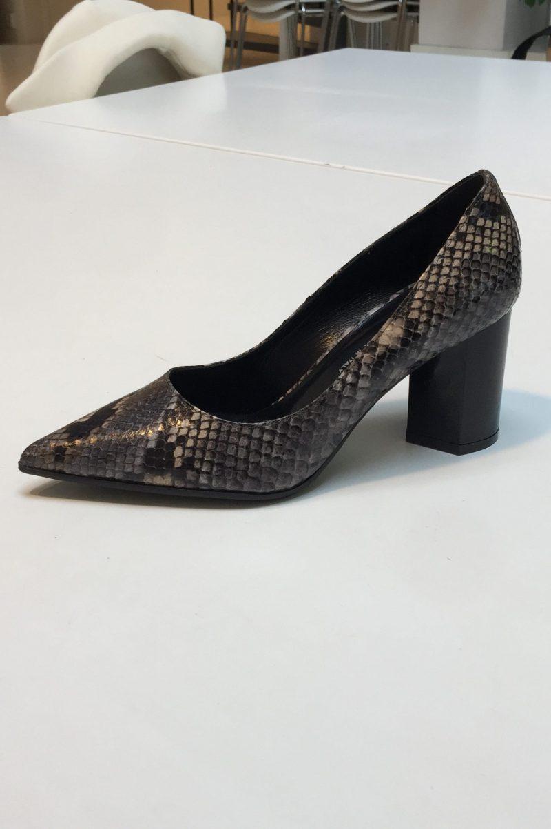 Gråsort 'snake' pumps med kraftig hel Laura Bellariva - I111 diamant grey