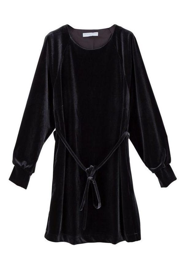 Vinrød, sort eller cognacbrun velourkjole Cathrine Hammel - 404.217 velvet dress