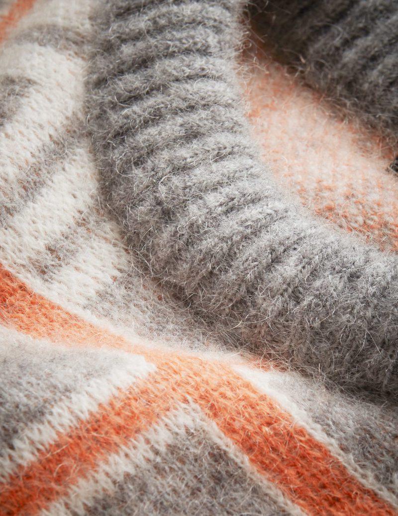 Grå med orange rutet genser i kidmohair/ull Tiger of Sweden - gwynn check