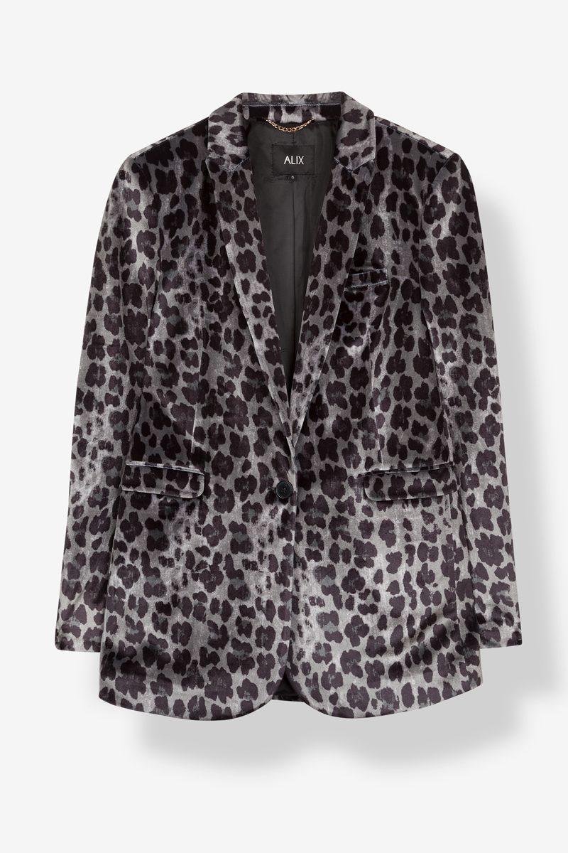 Velour leopard jakke Alix the label - 1774.76.501