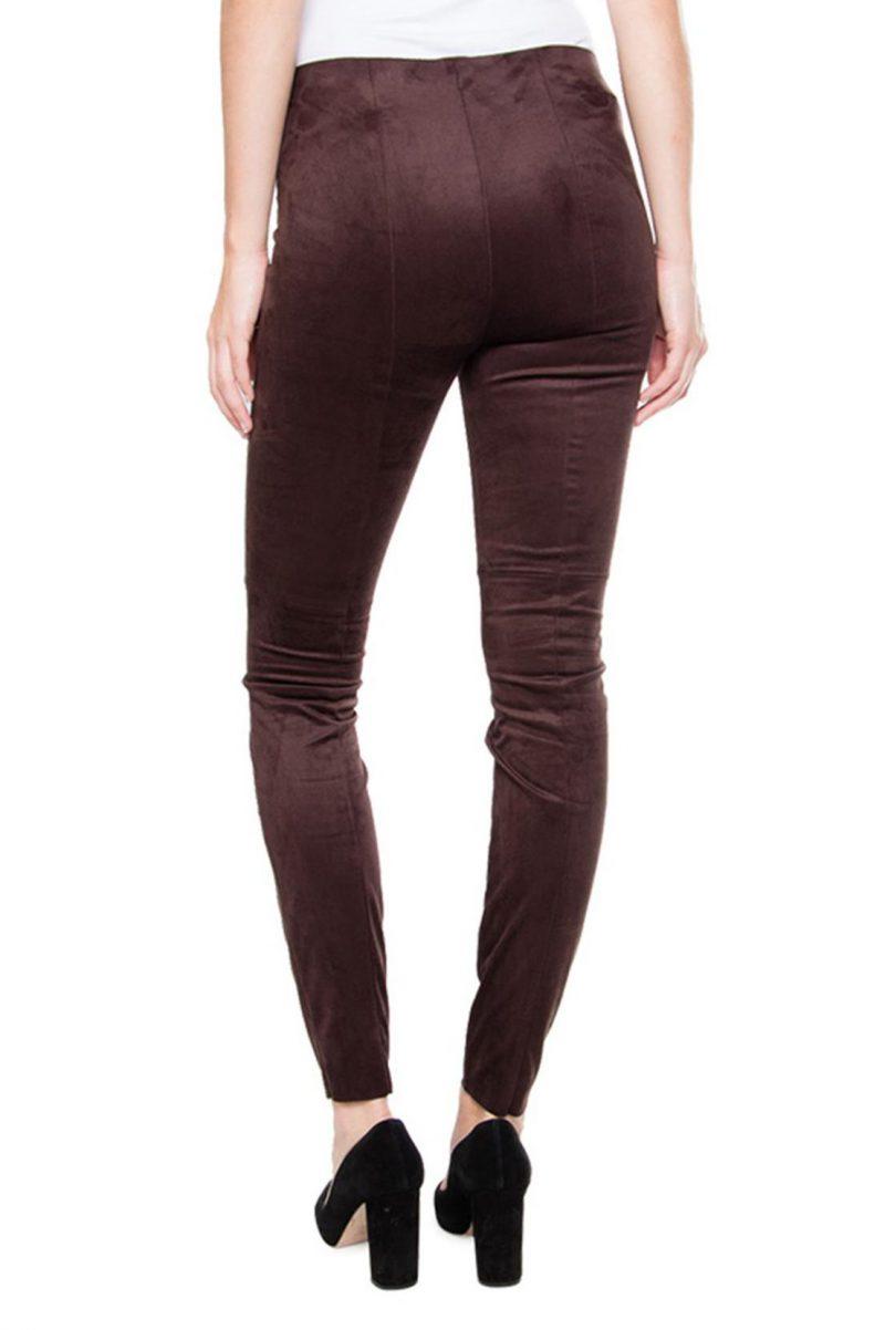 'Semsket' mørk brun eller sort leggings Cambio - 7036 0227-01 ramda