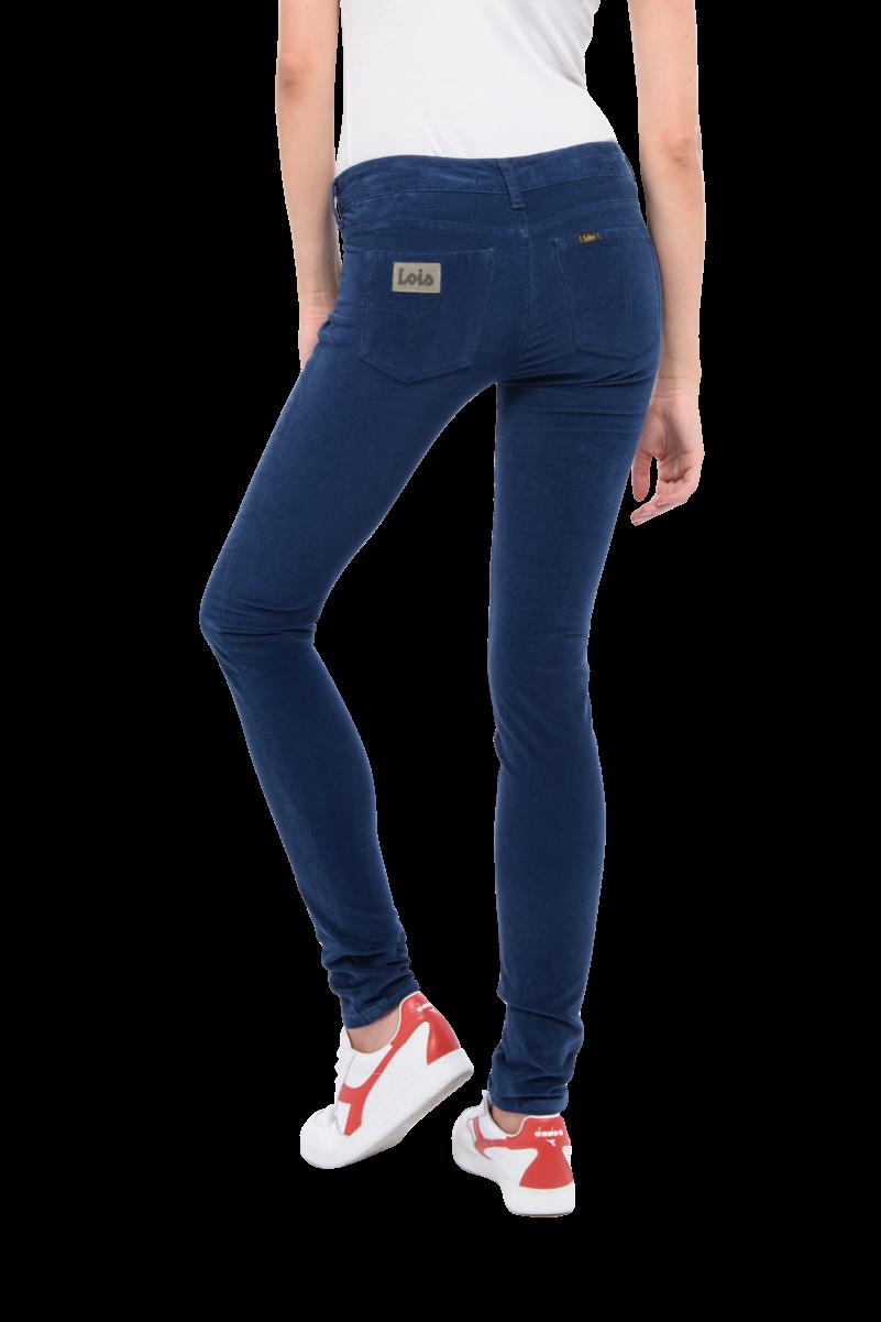 'True navy' microcord bukse med litt høyere liv Lois - berta micocord L32 Fargen er navy og ikke som vist her