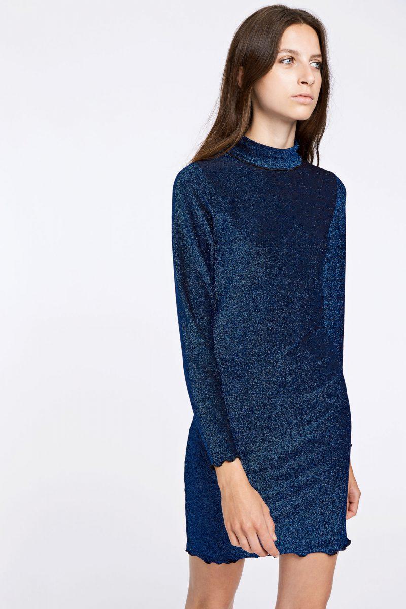 Blå lurex poloaktig kjole Samsøe Samsøe - jennie dress 9559