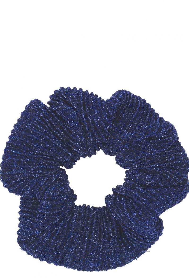 Blå mettalic hårstrikk Becksöndergaard - 682010 scrunchie micha