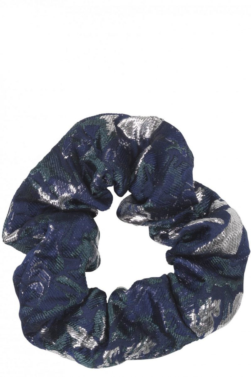 Legion blue hårstrikk Becksöndergaard - 682012 scrunchie flower
